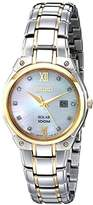 Seiko Women's SUT214 Two-Tone Stainless Steel Bracelet Watch with Diamond Markers by