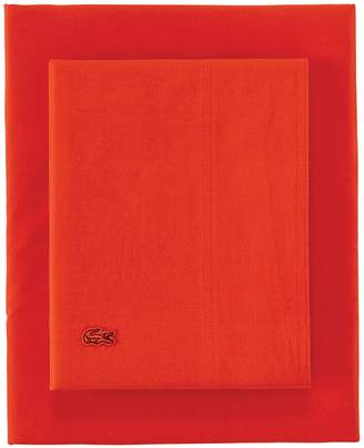Lacoste Cal King Washed Percale Sheet Set - Fiesta