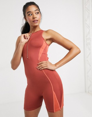 South Beach unitard in red