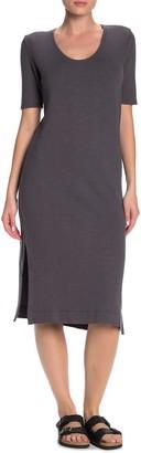 Jason Scott Scoop Neck Sweatshirt Midi Dress
