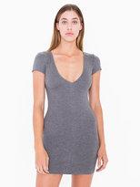 American Apparel Ponte V-Neck Mini Dress