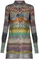 Missoni Chevron-knit patch-pocket blouse
