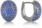 Ileana Creations Azhar Blue Cubic Zirconia Earrings