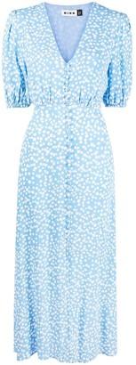 Rixo Floral-Print Midi Dress