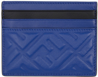 Fendi Blue Forever Business Card Holder