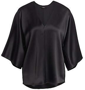 St. John Women's Liquid Satin Kimono-Sleeve Blouse
