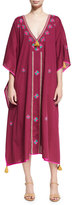 Figue Eliza Embroidered Caftan Dress, Plum