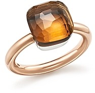 Pomellato Nudo Classic Ring with Madeira Quartz in 18K Rose and White Gold