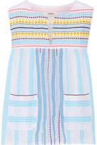 Lemlem Edna Striped Cotton-gauze Top - Blue