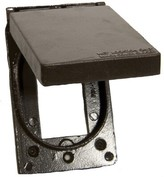 One Gang Weatherproof Covers in Bronze for Vertical GFCI / Decorator Morris Products