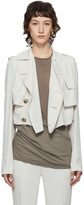 Rick Owens Off-White Mini Trench Coat