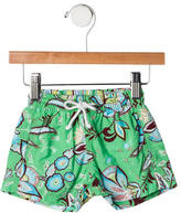 Papo d'Anjo Boys' Floral Print Swim Shorts w/ Tags