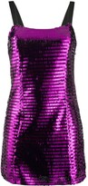 Amen fitted square sequin embroidered dress