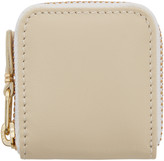 Comme des Garçons Wallets Off-White Small Leather Zip Around Pouch