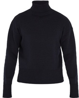 Loewe High-neck Cotton And Wool-blend Sweater