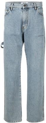 MSGM Strap-Detail Straight Jeans