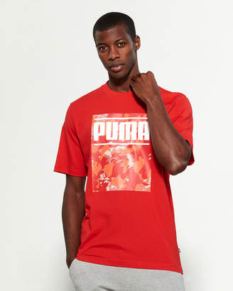 Puma Red Camo Block Short Sleeve Tee