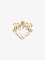 Torrid Diamond Shaped Pave Stone Ring