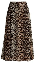 Thumbnail for your product : Ganni Printed Georgette Midi Skirt