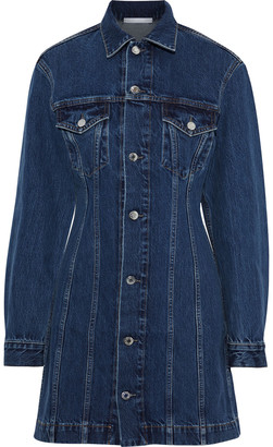 Helmut Lang Femme Trucker Denim Mini Shirt Dress
