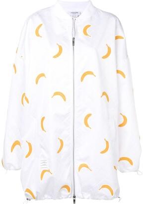 Thom Browne Banana Applique Oversized Bomber