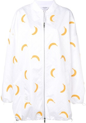 Thom Browne Banana Appliqué Oversized Bomber