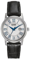 Citizen Eco-Drive Stainless Steel Leather Watch