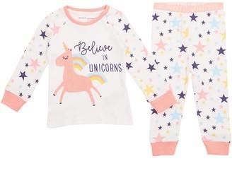 MINOTI Baby Girls Believe In Unicorn Pyjamas Pink/White