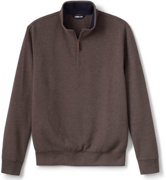 Lands' End Men's Tailored-Fit Bedford Rib Quarter-Zip Sweater
