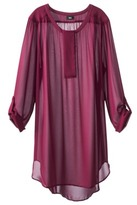 Mossimo Women's Plus-Size Tab-Sleeve Long Tunic Top - Assorted Colors