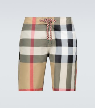 Burberry Breton checked swim shorts