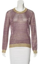 Vanessa Bruno Knit Metallic Top w/ Tags