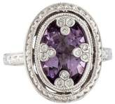 Jude Frances 18K Amethyst & Diamond Cocktail Ring