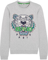 Kenzo Icon Embroidered Cotton-jersey Sweatshirt - Light gray