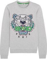 Kenzo Icon Embroidered Cotton-jersey Sweatshirt - small