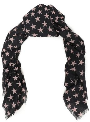 LOVE Stories Printed Cotton-gauze Scarf