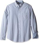 Nautica Men's Long Sleeve Small Plaid Button Down Shirt
