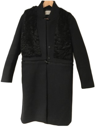 Sandro Navy Shearling Coats