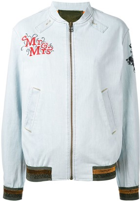 Mr & Mrs Italy Patch Detail Bomber Jacket