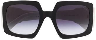 Emilio Pucci Square Frame Alex Print Sunglasses