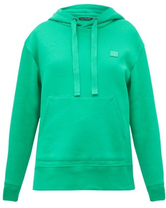 Acne Studios Ferris Cotton Fleece-back Hooded Sweatshirt - Green