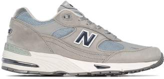 New Balance M991 low-top suede sneakers