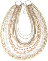 ABS by Allen Schwartz Multi-Row Two-Tone Necklace, 16
