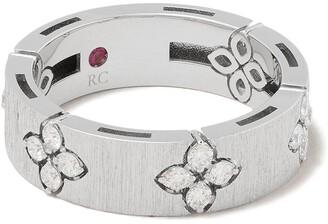 Roberto Coin 18kt white gold diamond Love in Verona ring