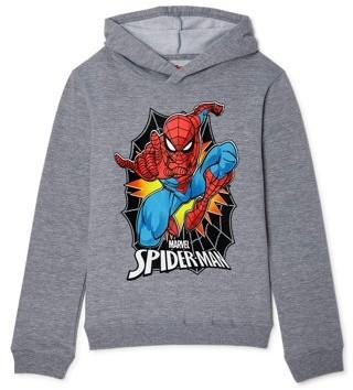 Spiderman Marvel Boys Classic Spidey Hoodie, Sizes 4-18