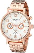 Akribos XXIV Men's AK800RG Analog Display Japanese Quartz Rose Gold Watch