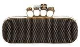Alexander McQueen Knuckle Clasp Studded Box Clutch - Black