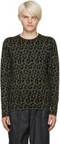 Loewe Green Jacquard Leopard Sweater