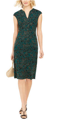 Connected Printed Cap-Sleeve Dress
