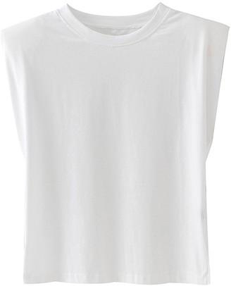Goodnight Macaroon 'Emery' Padded Shoulder Sleeveless T-shirt (6 Colors)